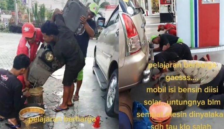 Kijang Innova Salah Isi Bahan Bakar Berujung Kuras Tangki di SPBU