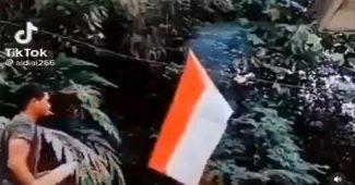Pembakar Bendera Indonesia Merupakan Warga Aceh Yang Menetap di Malaysia