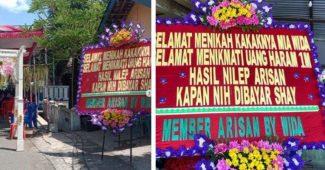 Karangan Bunga 1 M Tagih Utang Heboh Di Media Sosial