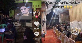 Nobar Sinetron Ikatan Cinta Di Pesta Pernikahan Heboh di Media Sosial