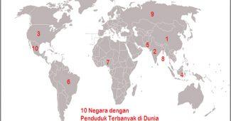 Penduduk Terbanyak di Dunia, Indonesia Nomor 4 Dunia